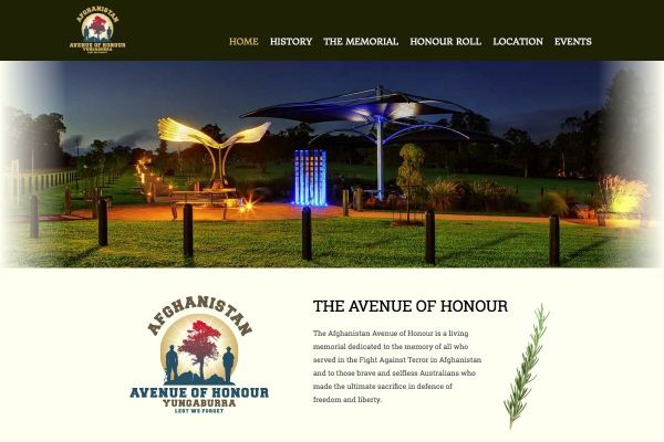 The Afghanistan Avenue of Honour