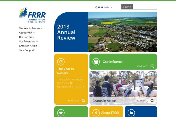 FRRR Annual Review for 2013