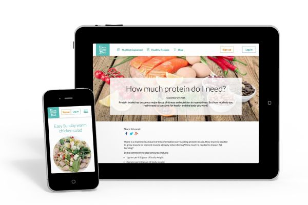 Easy Sunday Diet - a paid content platform using concrete5.7