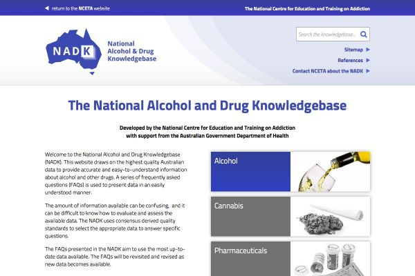 The National Alcohol & Drug Knowledgebase