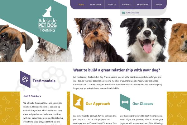 Adelaide Pet Dog Training website and online shop