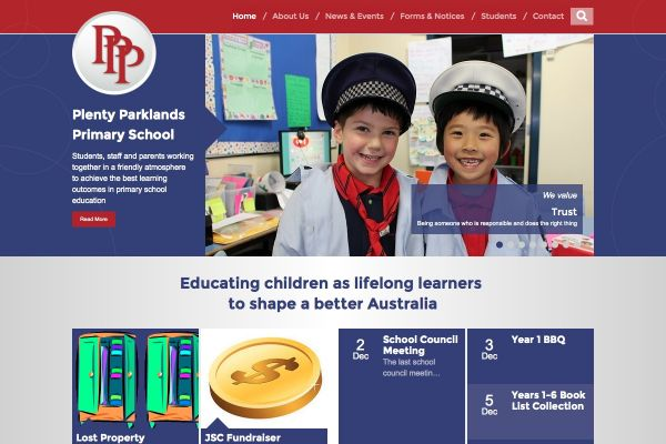 Plenty Parklands Primary School website