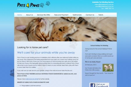 Pats 4 Paws CMS upgrade